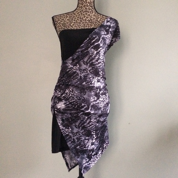 9470968c2c4 New Ruby Rox One-Shoulder Dress Leopard Jr Large